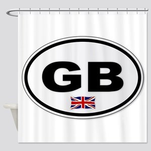 GB Plate Shower Curtain