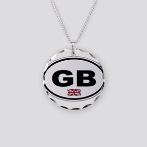 GB Plate Necklace Circle Charm