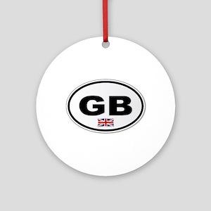 GB Plate Round Ornament