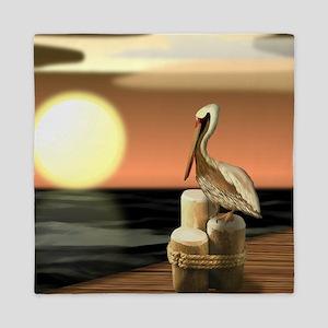 Sage Bay Pelican Queen Duvet