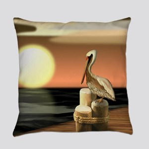 Sage Bay Pelican Everyday Pillow