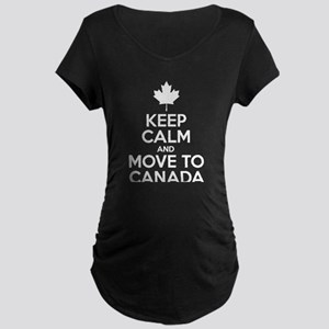Keep Calm and Move to Canada Maternity T-Shirt