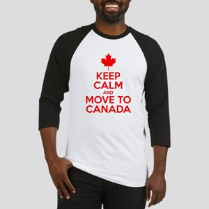 Keep Calm and Move to Canada Baseball Jersey