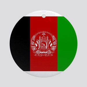 Afghanistan Flag Round Ornament