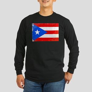 Puerto Rico Flag Long Sleeve T-Shirt