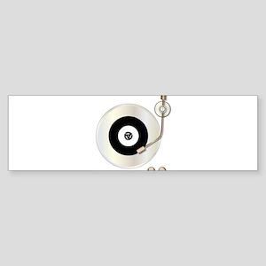 Record Player Bumper Sticker