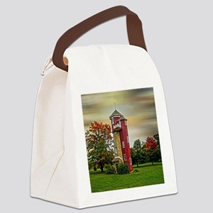 Autumn Water Tower Canvas Lunch Bag