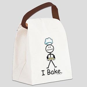 Baking Stick Figure Canvas Lunch Bag