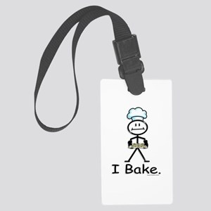 Baking Stick Figure Large Luggage Tag