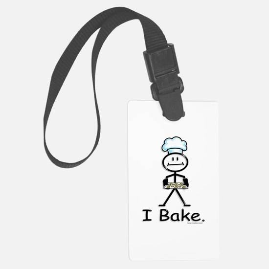 Baking Stick Figure Luggage Tag