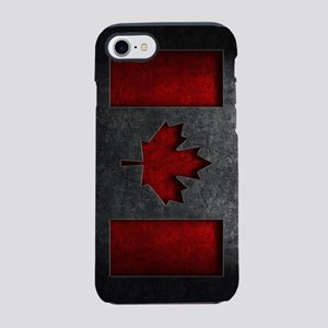 Canadian Flag Stone Texture iPhone 8/7 Tough Case