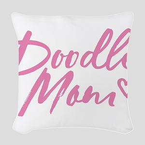 Doodle Mom Woven Throw Pillow