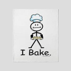 Baking Stick Figure Throw Blanket
