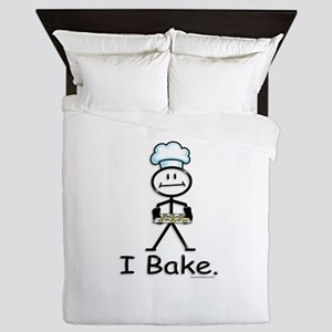 Baking Stick Figure Queen Duvet
