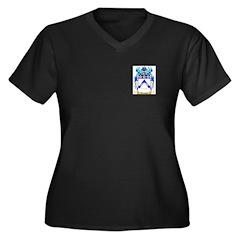 Tommis Women's Plus Size V-Neck Dark T-Shirt