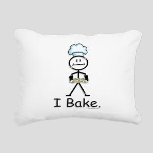 Baking Stick Figure Rectangular Canvas Pillow