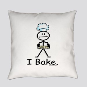Baking Stick Figure Everyday Pillow