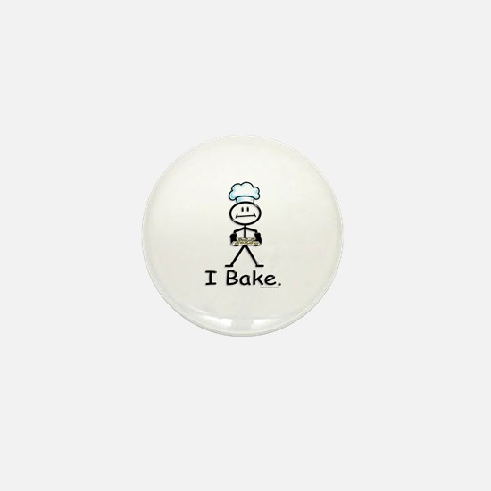 Baking Stick Figure Mini Button