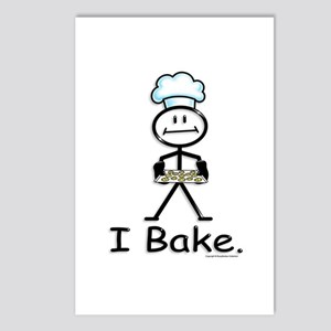 Baking Stick Figure Postcards (Package of 8)