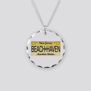 Beach Haven NJ Tag Giftware Necklace Circle Charm