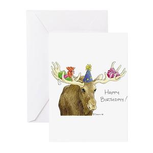 moose greeting cards cafepress