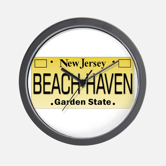 Beach Haven NJ Tag Giftware Wall Clock