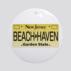 Beach Haven NJ Tag Giftware Round Ornament
