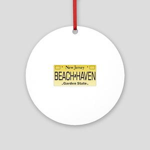 Beach Haven NJ Tag Giftware Round Ornament