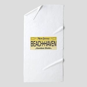 Beach Haven NJ Tag Giftware Beach Towel
