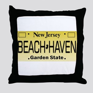 Beach Haven NJ Tag Giftware Throw Pillow