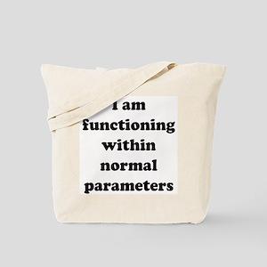 Normal Parameters Tote Bag