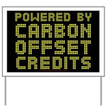 Powered by Carbon Offset Credits Yard Sign