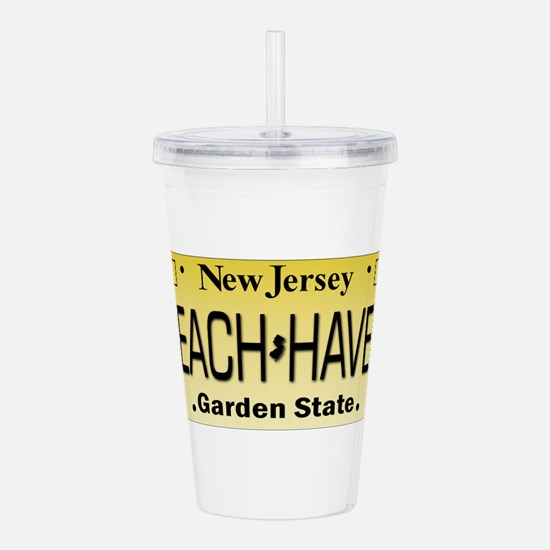 Beach Haven NJ Tag Gif Acrylic Double-wall Tumbler