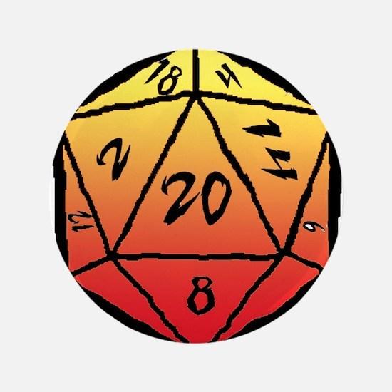 Firey d20 Button