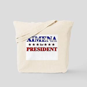 XIMENA for president Tote Bag