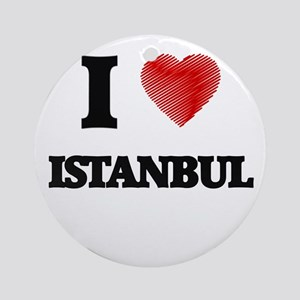 I Heart ISTANBUL Round Ornament
