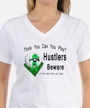 Hustlers Pool Playing Frog White T-Shirt