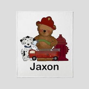 Jaxon's Fire Bear Throw Blanket