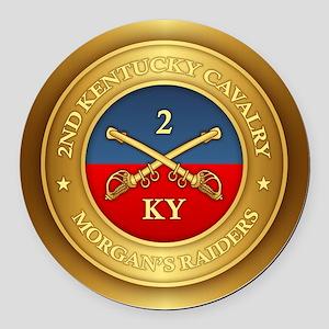 2nd Kentucky Cavalry Round Car Magnet