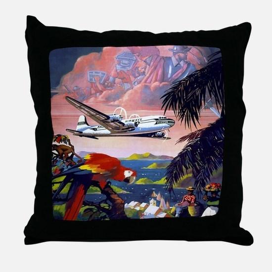 Paradise Flight Throw Pillow