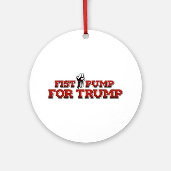 Cute Fist pump Round Ornament