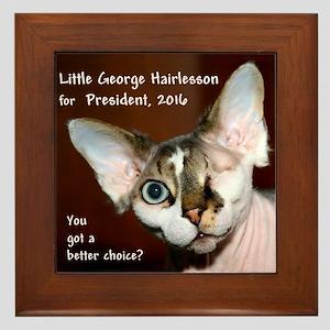 Little George Hairlesson For President Framed Tile