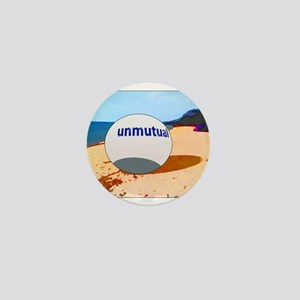Unmutual on the beach Mini Button