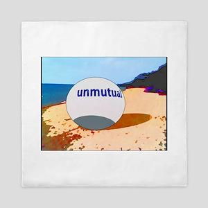 Unmutual on the beach Queen Duvet