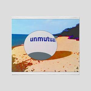 Unmutual on the beach Throw Blanket