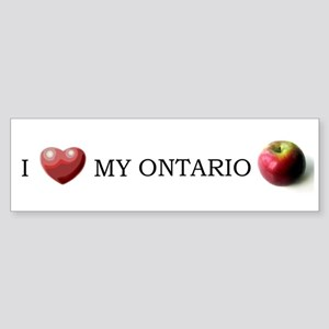 I love my ontario apples sticker