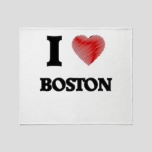 I Heart BOSTON Throw Blanket