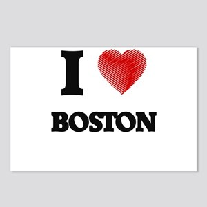 I Heart BOSTON Postcards (Package of 8)