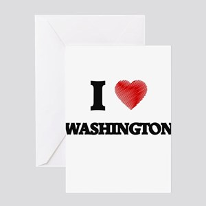I Heart WASHINGTON Greeting Cards