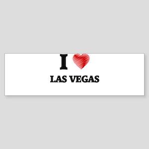 I Heart LAS VEGAS Bumper Sticker